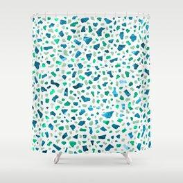 Terrazzo Aqua Shower Curtain