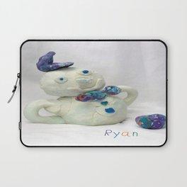 Snowman Sculpture Laptop Sleeve