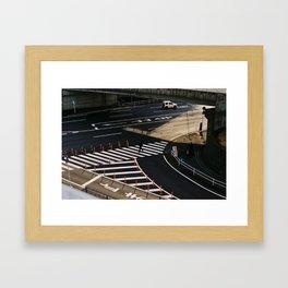 Crossing near Narita Framed Art Print