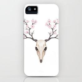 Blooming deer skull iPhone Case