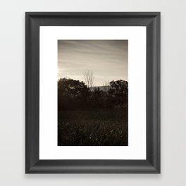 And In The Fields Framed Art Print