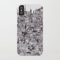prague iPhone & iPod Cases featuring Prague by Justine Lecouffe