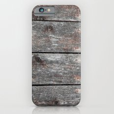 Grainy Wood II Portrait iPhone 6s Slim Case
