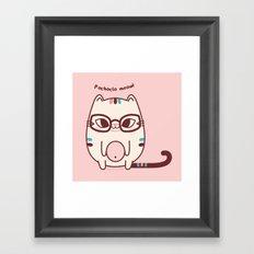 Pochoclo the Cat Framed Art Print