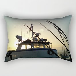 Fishing At Dawn Rectangular Pillow