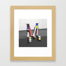Surreal Letter M Framed Art Print