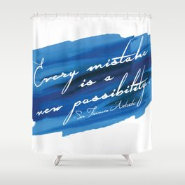 Barry Grump Quote Shower Curtain