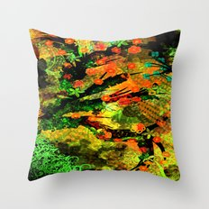 Abstract Art with flowers Throw Pillow