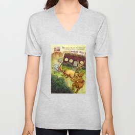 They Caught a Ride Unisex V-Neck