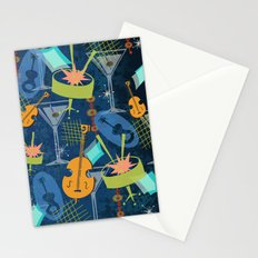 Midnight Party On Bourbon Street Stationery Cards