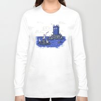 hallion Long Sleeve T-shirts featuring The Seagulls have the Phonebox by Karen Hallion Illustrations