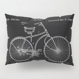 Vintage Bicycle patent illustration 1890 Pillow Sham