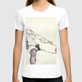 Egon Schiele - reclining female (new color editing) T-shirt
