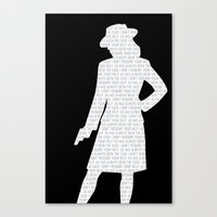 agent carter Canvas Prints featuring Agent Carter by Kaitlin Andesign
