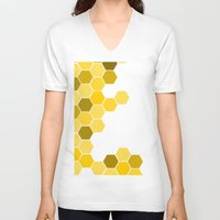 honeycomb V-neck T-shirts featuring Honeycomb by KelC