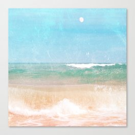 Sea and Moon Canvas Print
