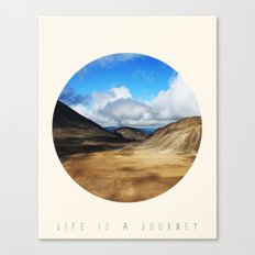 Life Is A Journey (Colour)  Canvas Print