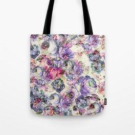 Vintage bohemian rustic pink lavender floral Tote Bag