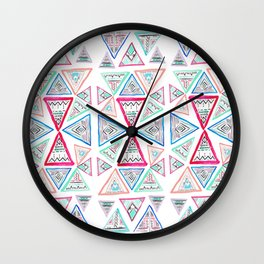 Triangles and Tribal Wall Clock