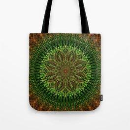 Earth Flower Mandala Tote Bag