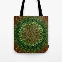 Earth Flower Mandala Tote Bag