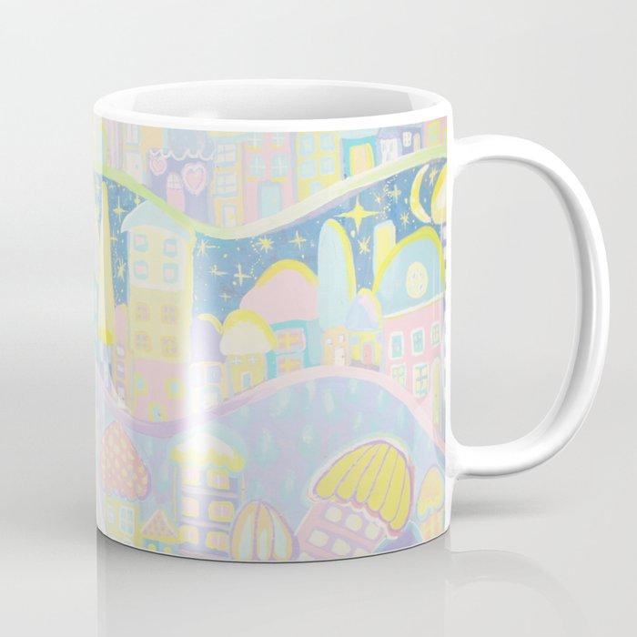 Pastel Village Coffee Mug