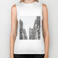 broadway Biker Tanks featuring Broadway - NY by Basma Gallery