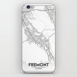 Minimal City Maps - Map Of Fremont, California, United States iPhone Skin