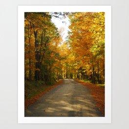 Autumn Back Road in Willimantic, Maine 2010 Art Print