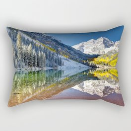 Maroon Bells Colorado Rectangular Pillow