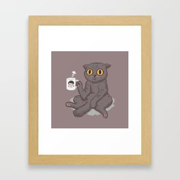 Catffeinated Framed Art Print