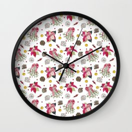 winter plants Wall Clock