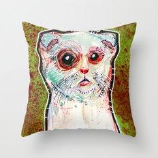 Infected Sugar Cat Throw Pillow