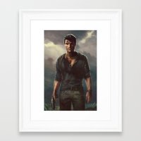 uncharted Framed Art Prints featuring Uncharted by therealmcgee