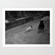 Running with Skippy Art Print