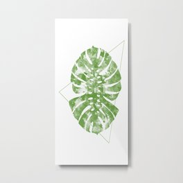 Monstera Deliciosa Giant Dynamics Metal Print