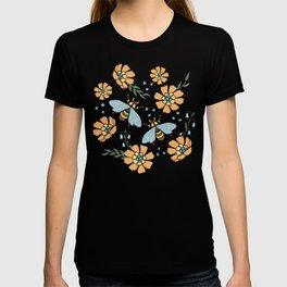 Honey Bees and Orange Flowers T-shirt