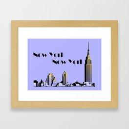 New York New York skyline retro 1930s style Framed Art Print