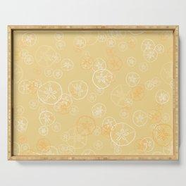 Golden sand dollar pattern Serving Tray