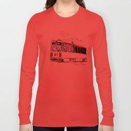Septa Trolley Art: Philly Public Transportation Long Sleeve T-shirt