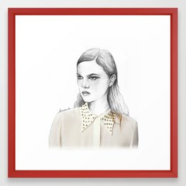 stud collar Framed Art Print
