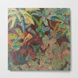 Tropical plants still life by Hélène Funke Metal Print