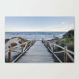 """Walking to the beach....."" At sunset Canvas Print"