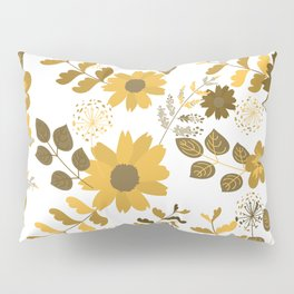 Big Yellow and Brown Flowers Pillow Sham