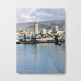 Honolulu Harbor Aloha Tower Metal Print