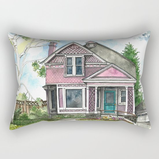 The Violet Lady in Spring Rectangular Pillow