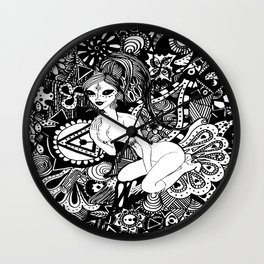 Psychedelic Space Raver  Wall Clock