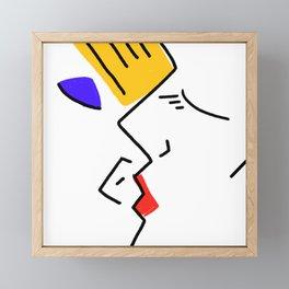 kiss Framed Mini Art Print