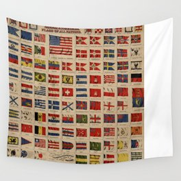 Historical Flags of The World (1869) Wall Tapestry
