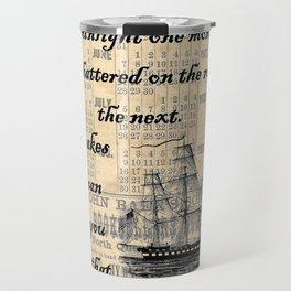 Count of Monte Cristo quote Travel Mug